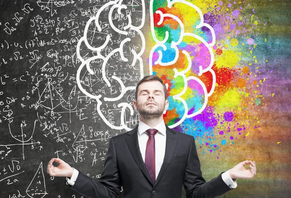 A Person Standing In Front of A Drawing Of a Brain Illustrating Emotional Intelligence - SWS Warning Lights